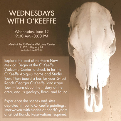 Wednesdays with O'Keeffe Ad