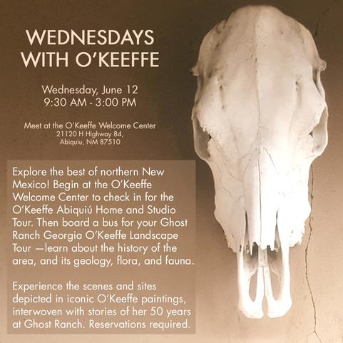 Wednesdays with O'Keeffe Ad