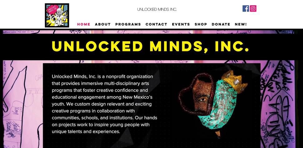 Unlocked Minds Inc. Website
