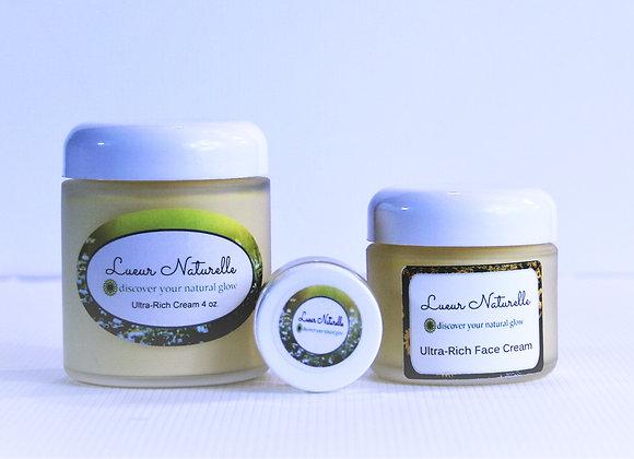 Ultra-Rich Face Cream 2 oz All-Natural 100% Organic