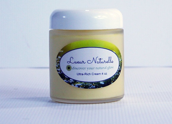 Ultra-Rich Face Cream 4 oz. All-Natural 100% Organic