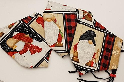 ZZ Winter Gnomes - 3 Layer Cotton
