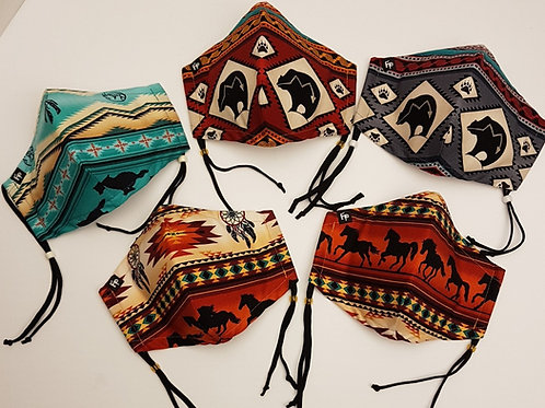 Tribal Reflections - Cotton Facemasks
