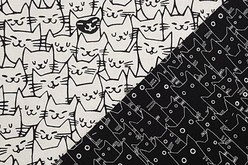 Black & White Cats - Cotton Facemasks