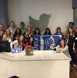 Duke MBA Fuqua Marketing Club annual recruiting trip to NYC to visit Twitter, Pepperidge Farm, Google, ABInBev, American Express, L'Oreal