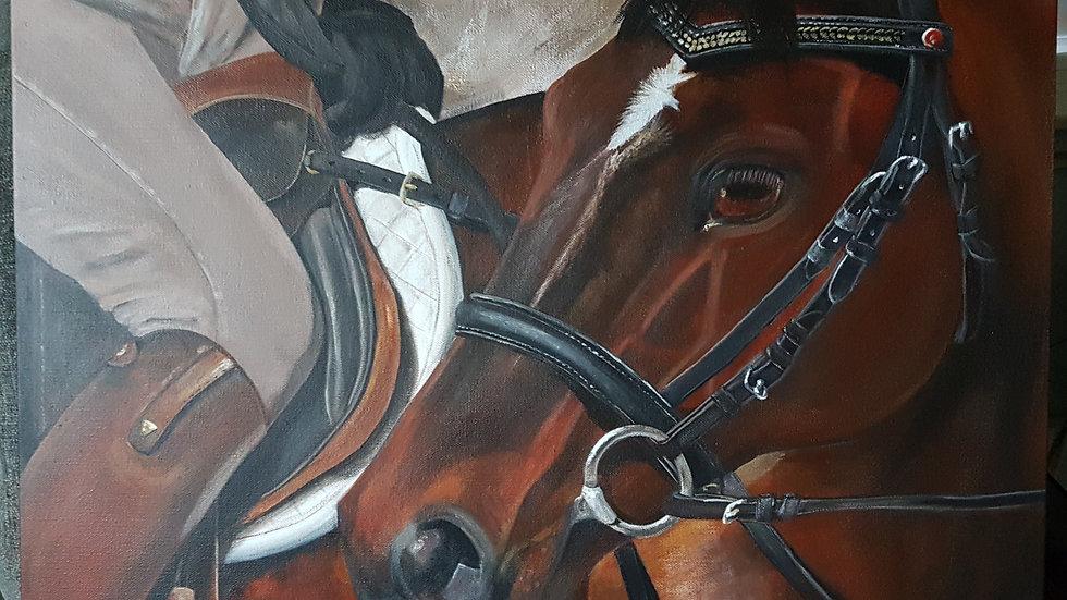 "Ready To Go! acrylic on gallery canvas 20"" x 24"""