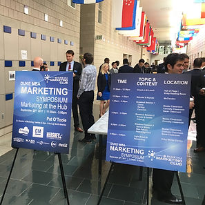 Duke MBA Fuqua Marketing Club annual Marketig Symposium featuring General Motors, Frito-Lay, Mars, P&G, Coca-Cola, Clorox, and Dell