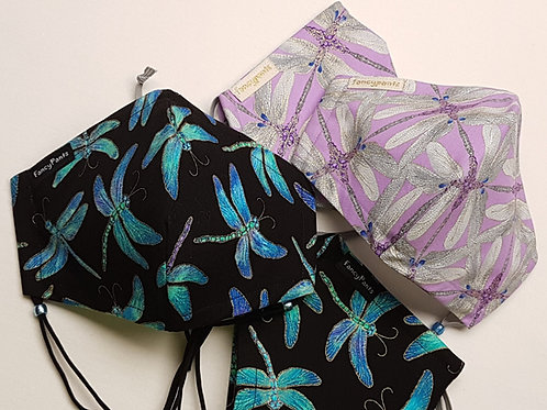 Dragonfly's Dance - 3 layer cotton