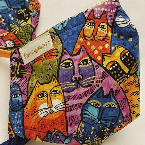 Laurel Burch Cat Faces - Cotton Facemasks