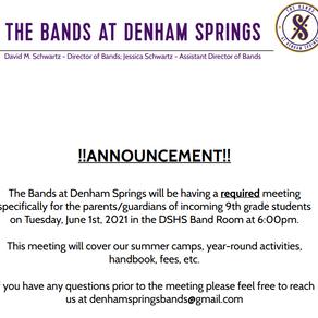 Denham Springs High School Band Announcement