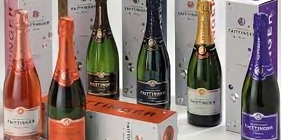 VIrtual Champagne Tasting with Taittinger Brut La Francaise, Prestige Rose, Prelude and, Grand Crus