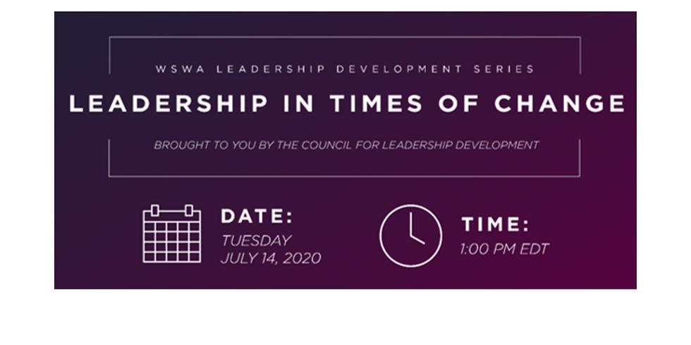 WSWA Leadership Development Webinar – Leadership in Times of Change