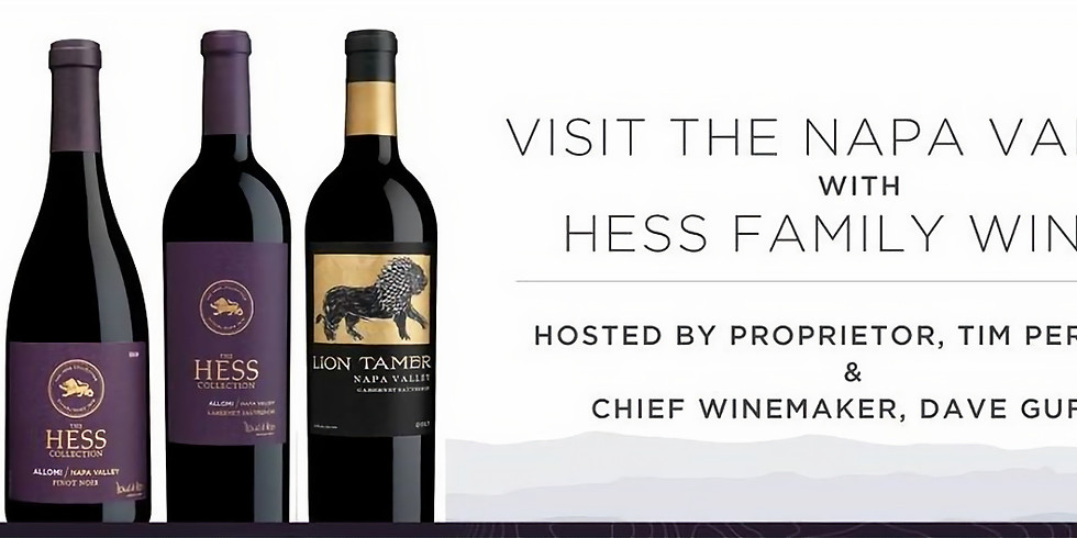 Visit The Napa Valley Virtual Tasting With Hess Family Wines
