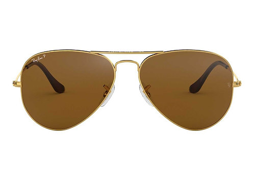 RAY-BAN AVIATOR RB3025 001/57, Or, Marron Classique B-15