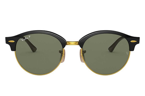 RAY-BAN CLUBROUND RB4246 901/58, Or, Noir, Vert Classique G-15
