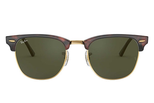 RAY-BAN CLUBMASTER CLASSIC RB3016 W0366, Havane Or, Vert Classique G-15