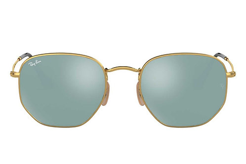 RAY-BAN HEXAGONAL RB3548N 001/30, Or, Argent Flash
