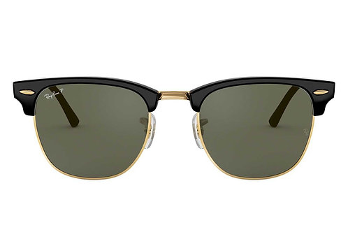 RAY-BAN CLUBMASTER CLASSIC RB3016 901/58, Noir, Vert Classique G-15