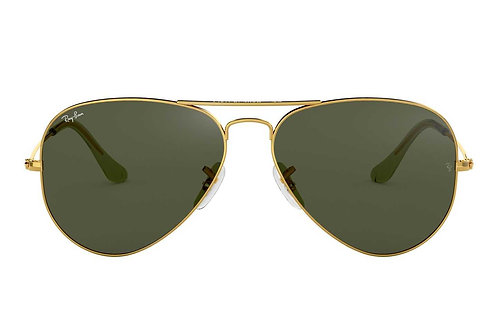 RAY-BAN AVIATOR RB3025 L0205/W3234, Or, Vert Classique G-15
