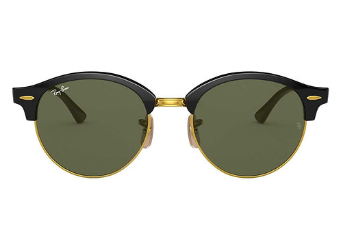 RAY-BAN CLUBROUND RB4246 901, Or, Noir, Vert Classique G-15