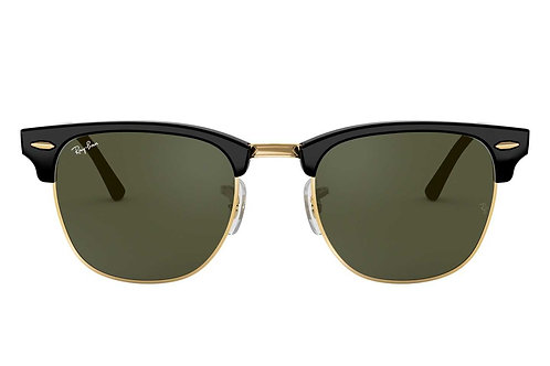 RAY-BAN CLUBMASTER CLASSIC RB3016 W0365, Noir, Vert Classique G-15
