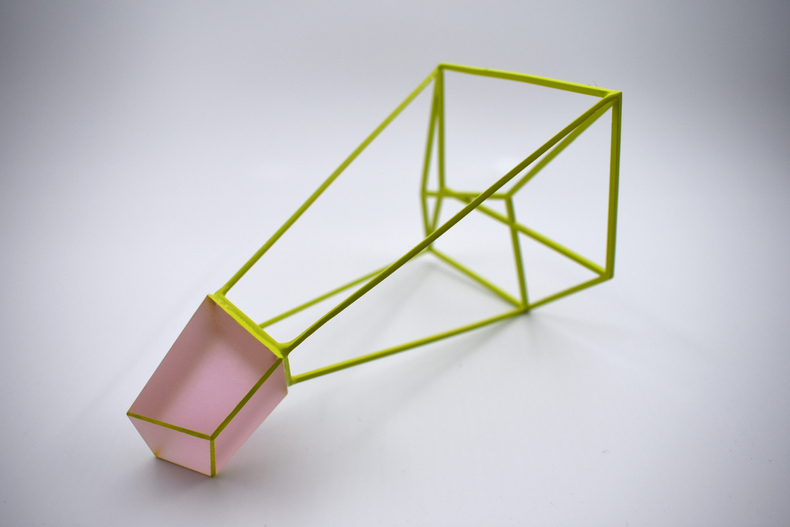 10 Split (Pink-Green), 2018, glass paint