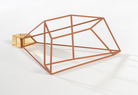 Outline (brown), 2021. Coldworked glass, metal, paint. Photo: Brenton McGeachie.