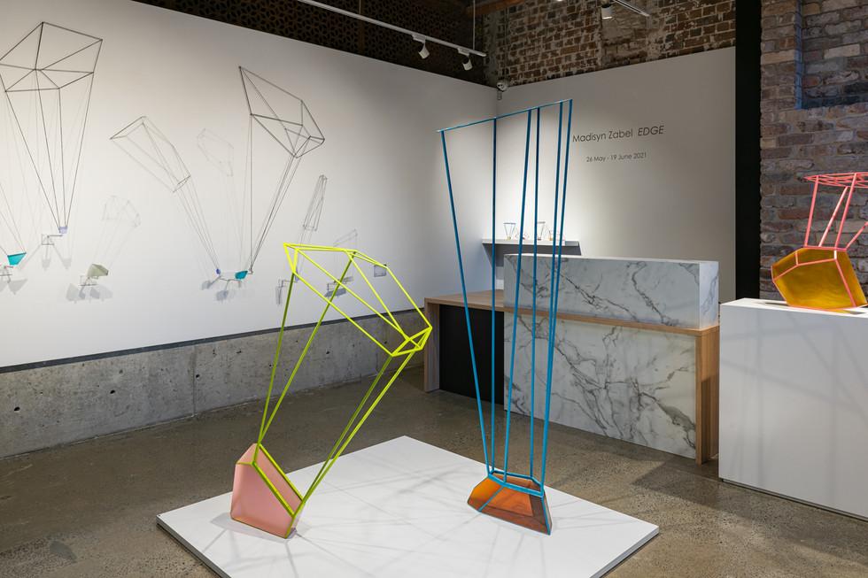 Edge exhibition detail, Sabbia Gallery, 2021. Photo: Greg Piper