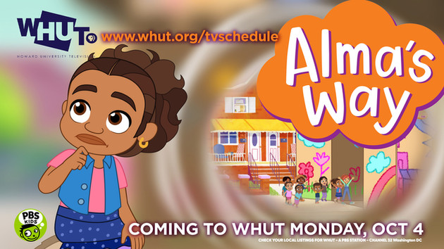 NEW SERIES COMING TO OUR WHUT KIDS LINE UP in OCTOBER!!! look out for Alma's Way!