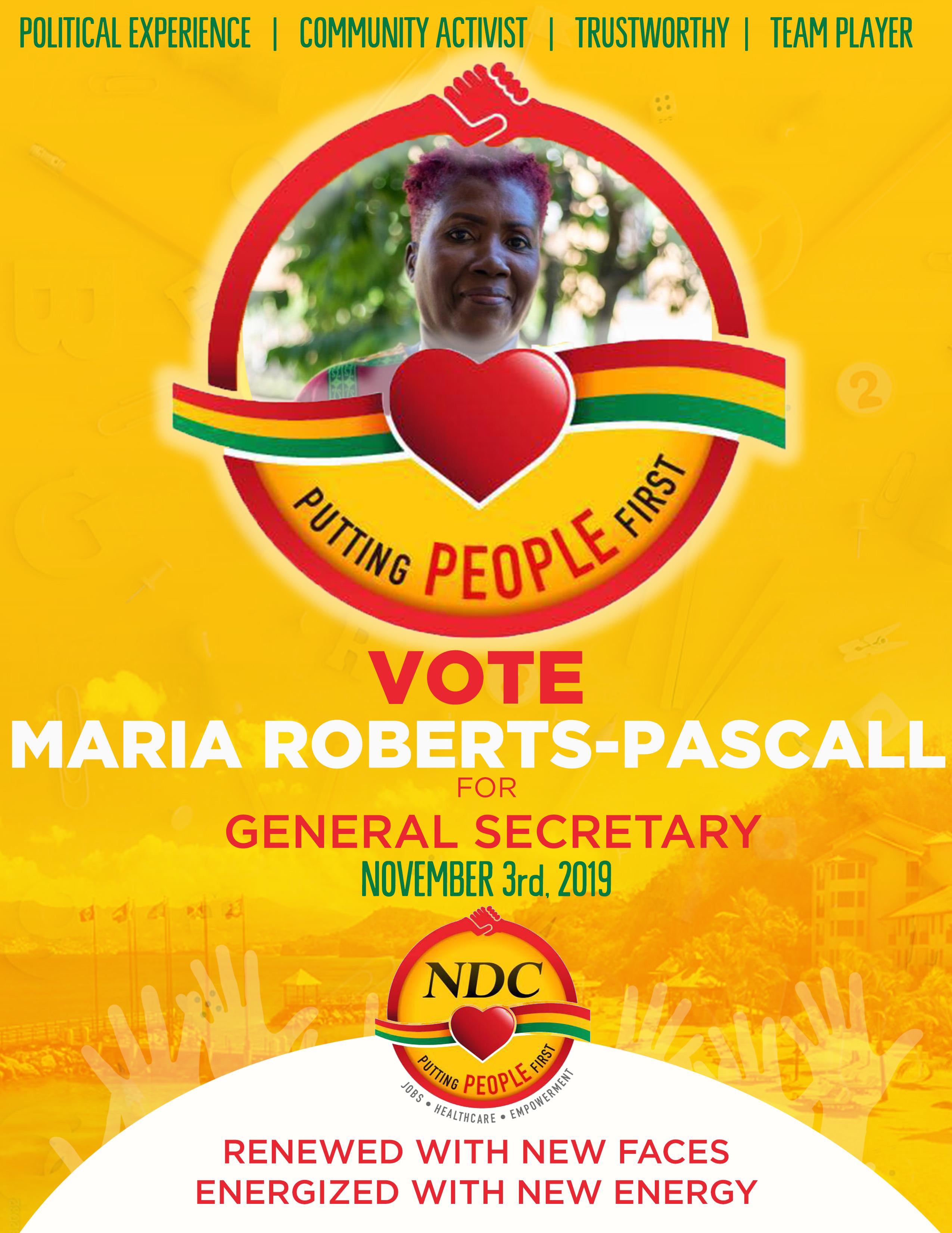 Maria Roberts Vote