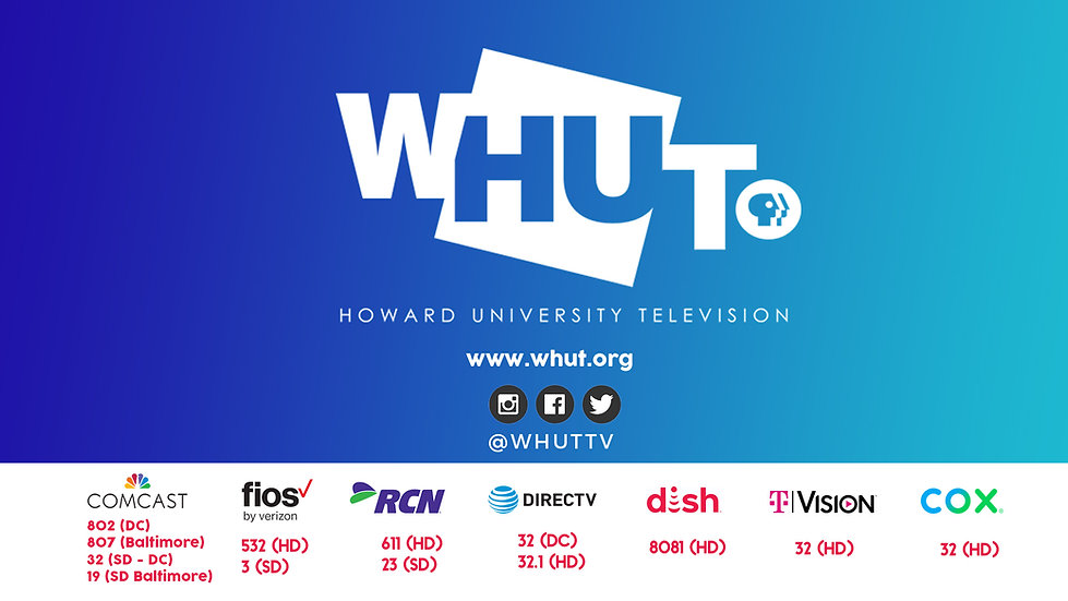 WHUT Channel Listings, Comcast, Verizon Fios, RCN, Direct TV, Dish Network, TVision and Cox.