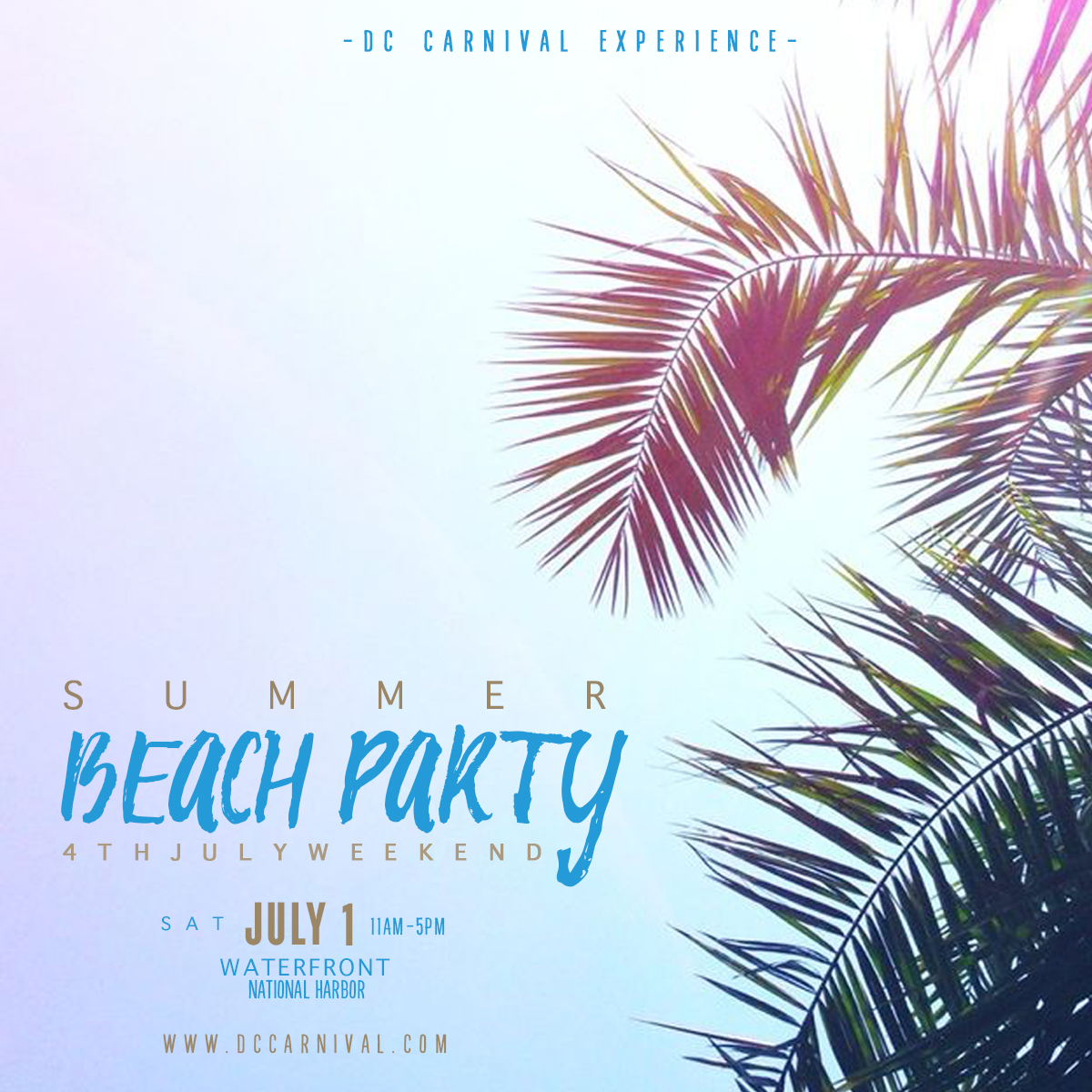 new summer beach party