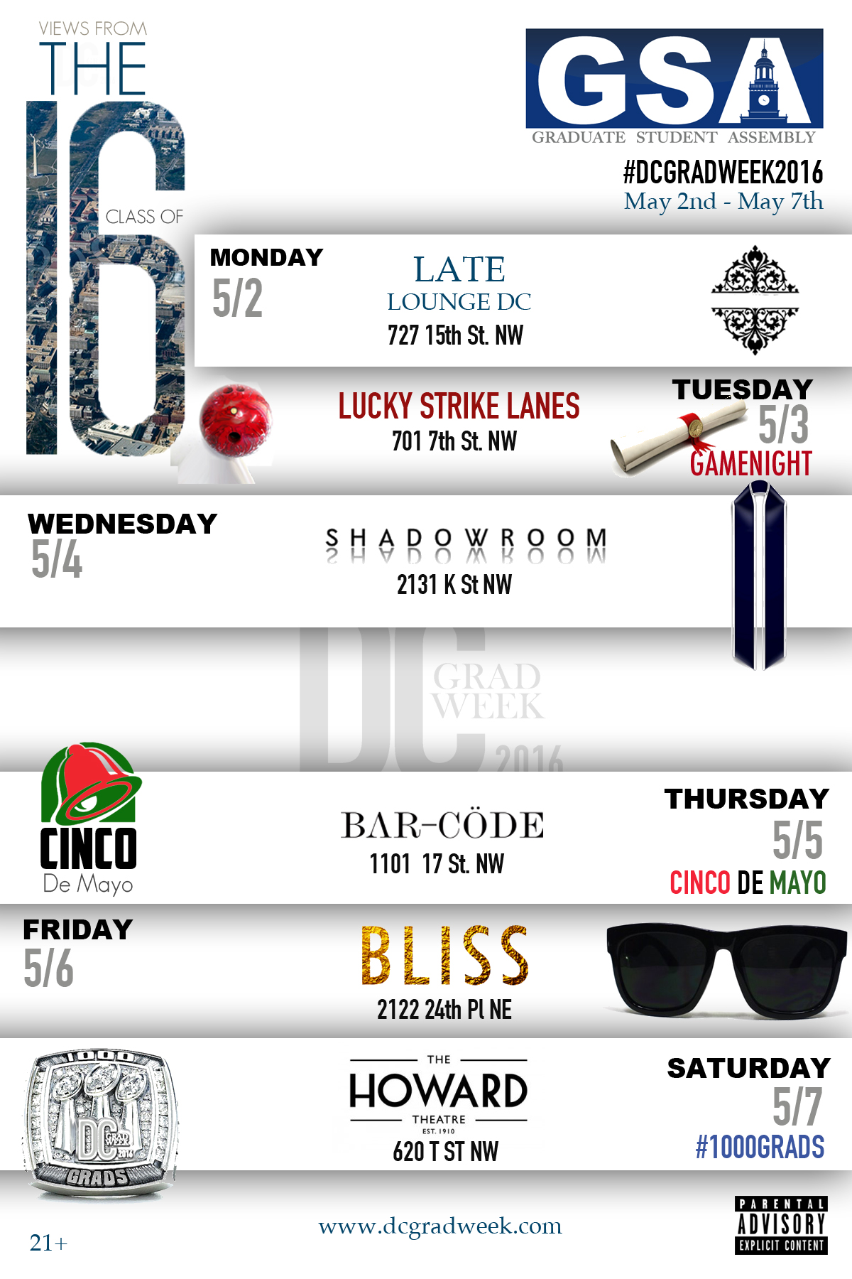 Week Line Up - Events
