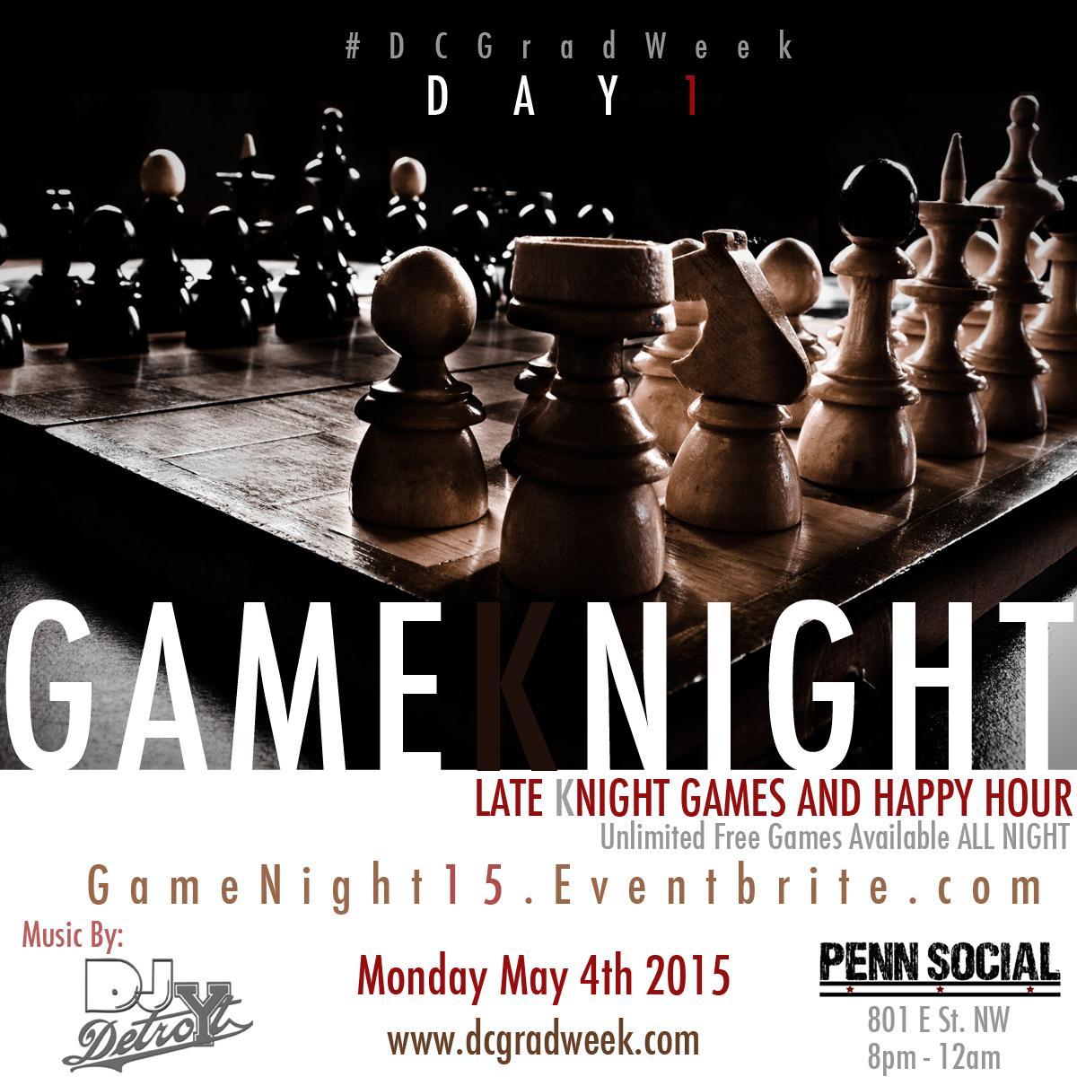 Game Night DC Grad Week