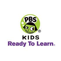 PBS KIDS - Ready to learn Logo, Green, Purple, White, CLick to go to PBS kids ready to learn