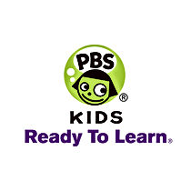PBS KIDS - Ready to learn Logo, Green, Purple, White, CLick to go to PBS kids ready to learn