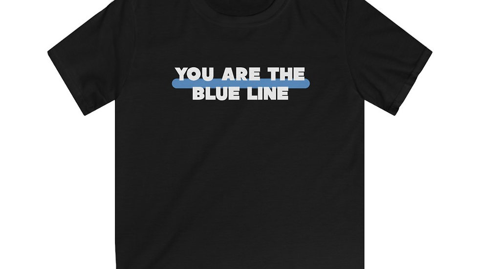 YOU ARE THE BLUE LINE - Kids Softstyle Tee