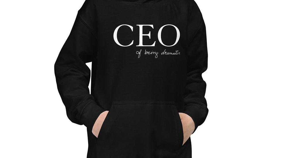 "Kids Hoodie ""CEO of being dramatic"" Eliana's handwriting"