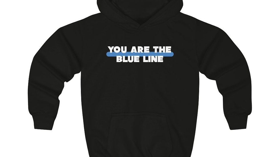 YOU ARE THE BLUE LINE - Kids Hoodie