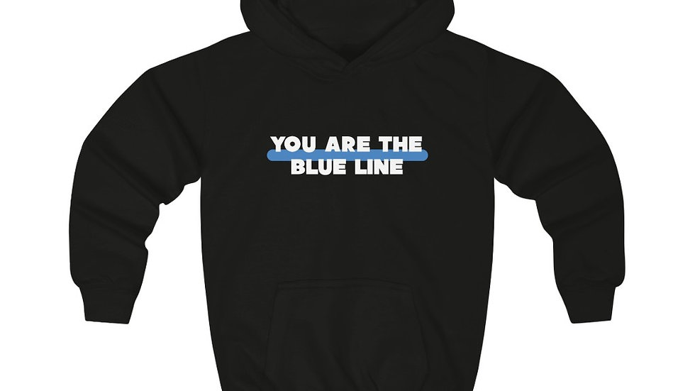 YOU'RE THE BLUELINE - Kids Hoodie (INTERNATIONAL SHIPPING ONLY)