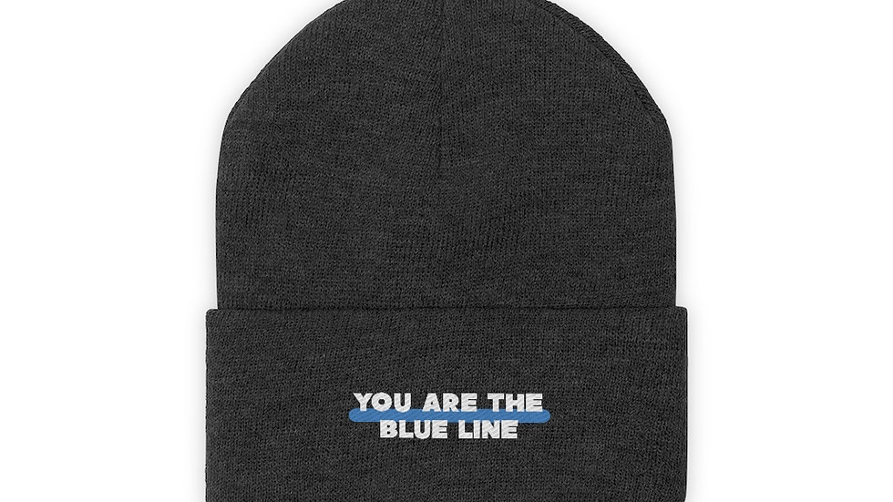 YOU ARE THE BLUE LINE - Knit Beanie