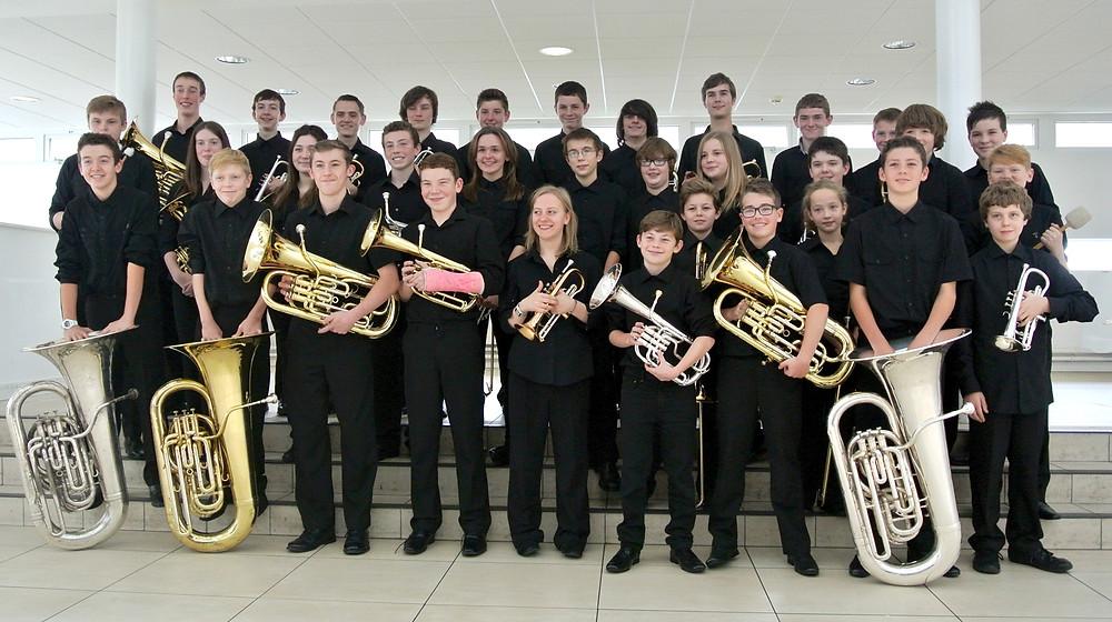 Beaumaris Youth Band celebrate their success