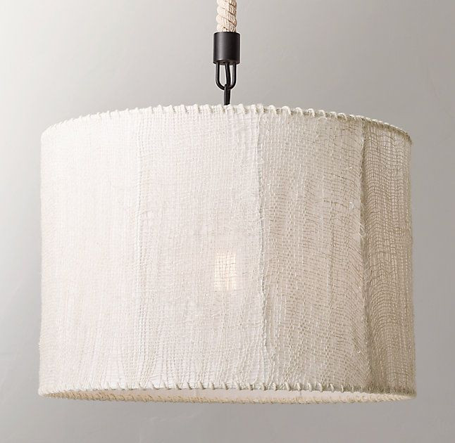 I always love a burlap pendant and the price is soooo good and it comes in three shades.