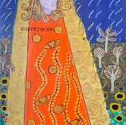 self-portrait Klimt oil painting classes