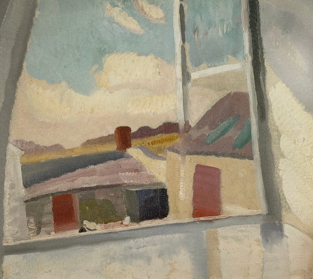 A painting by Ivon Hitchens to inspire the oil painting group. Pallant House Exhibition.