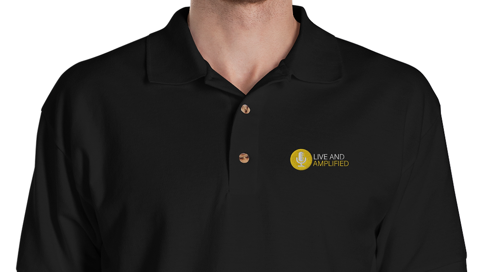 Live and Amplified Classic Embroidered Polo Shirt