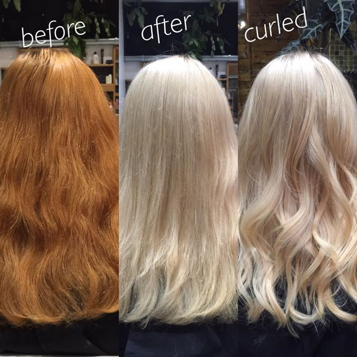Copper to Blonde Transformation
