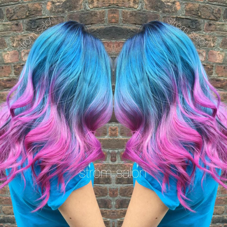 galaxy ombre hair