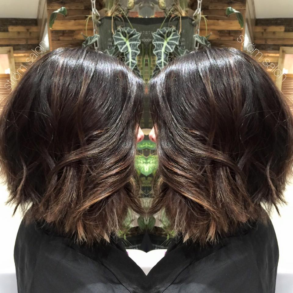 Balayage with Root and Collar Cut