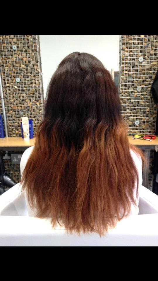 Before-A bad Ombre and base colour
